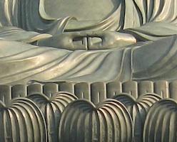 高岡大仏の手印