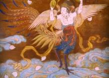 仏画2_迦陵頻伽