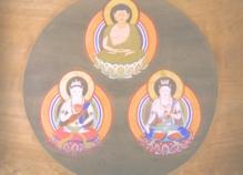 仏画8_弥陀三尊像